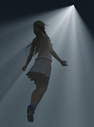 Floating Girl Prints - Come Into The Light Print by Mike Heywood