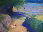 Crows Pastels - Come On - Lets Go for a Walk by Jackie Bush-Turner