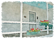 Front Porch Digital Art Posters - Come sit a spell - TN Ernie Ford Birthplace Poster by Denise Beverly