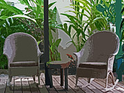 Rocking Chairs Digital Art - Come Sit With Me by Ian  MacDonald