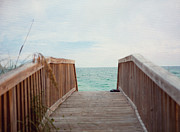 Destin Prints - Come Take A Beach Walk Print by Kay Pickens