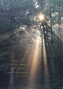 Light Rays Prints - Come to Me Print by Lori Deiter