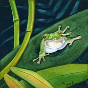 Frog Paintings - Come to Me by Lyse Anthony