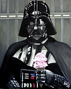 Darth Vader Framed Prints - Come to the Dark Side... We Have Ice Cream. Framed Print by Tom Carlton