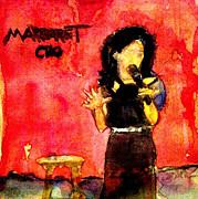 Standup Comedy Framed Prints - Comedian Margaret Cho Framed Print by Sandra Stone