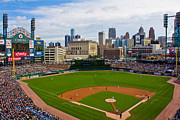 Baseball Field Framed Prints - Comerica Park Framed Print by John McGraw