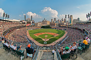Ballfield Framed Prints - Comerica Park Framed Print by Mark Whitt