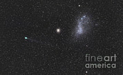 Small Magellanic Cloud Prints - Comet Lemmon Next To The Small Print by Luis Argerich