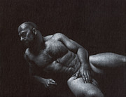 Nude Drawings - Comfort 4 by Chris  Lopez