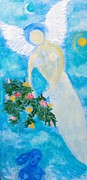 Night Angel Paintings - Comfort Is Present by Linda Morgan Smith