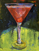 Cherry Art Framed Prints - Comfortable Cherry Martini Framed Print by Michael Creese