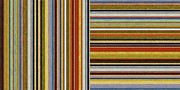 Stripe.paint Prints - Comfortable Stripes lX Print by Michelle Calkins