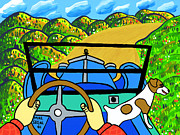 Model T Ford Paintings - Comin Round the Mountain by Mike Segal