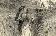 Lovers Drawings - Comin Through the Rye by William Bell Scott