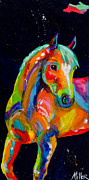 Horses In Art Prints - Coming Around Print by Tracy Miller