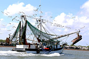 Trawler Metal Prints - Coming Home Ruby Dale Metal Print by Nancy Sullins