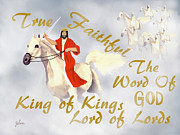Lord Of Lords. King Of Kings Prints - Coming In The Clouds Print by Zelma Hensel