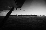 Floatplane Prints - Coming In To Land On The Water In A Seaplane Next To Fort Jefferson Garden Key Dry Tortugas Florida  Print by Joe Fox