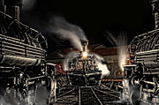 Steam Engine Photos - Coming In Tonight by Ken Smith