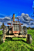 Machinery Digital Art Posters - Coming out of a heavy action tractor Poster by Eti Reid