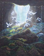 Freedom Paintings - Coming out of the Cave by Valerie Summers