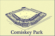 Chicago Baseball Framed Prints - Comiskey Park 1910 Framed Print by Bill Cannon