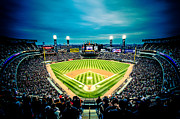 Comiskey Posters - Comiskey Park Night Game - Creative Coloring Poster by Anthony Doudt