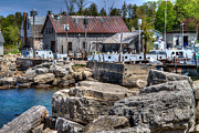 Gills Rock Prints - Commercial Fishing Dock Print by Jeffrey Ewig