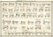 Wagons Prints - Commercial Wagons  1881 Print by Daniel Hagerman