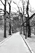 Boston Ma Photo Framed Prints - Commons Park Pathway Framed Print by Scott Pellegrin