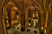 Chandelier Prints - Commons Room Cathedral of Learning University of Pittsburgh Print by Amy Cicconi