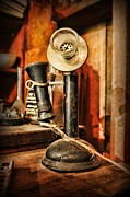 Talking Metal Prints - Communication - Candlestick Phone Metal Print by Paul Ward