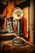 Communication - Candlestick Phone Print by Paul Ward