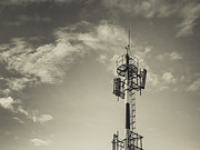 Communication Tower Print by Marco Oliveira