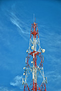 Technical Photo Posters - Communications mast hua hin Poster by Antony McAulay