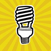 Efficiency Posters - Compact Fluorescent Lightbulb Poster by Yuriko Zakimi