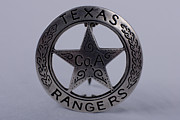 Law Enforcement Art Framed Prints - Company A Texas Ranger Badge Framed Print by Alan Look