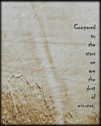 Poetry Art - Compared to the Stars  by Steven  Digman