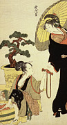 Comparison Of Celebrated Beauties And The Loyal League Print by Kitagawa Utamaro