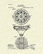 1892 Framed Prints - Compass 1892 Patent Art Framed Print by Prior Art Design