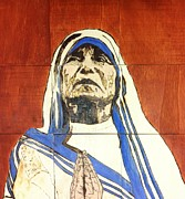 Mother Pyrography Posters - Compassion Poster by Stephanie Cavanaugh