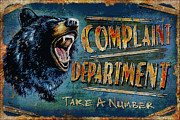 Black Painting Posters - Complaint Department Poster by JQ Licensing