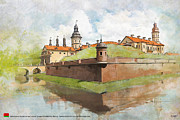 Historic Statue Painting Prints - Complex of Radziwill Print by Ctaf