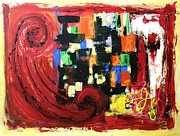 Painter Mixed Media - Composition Red by Venus