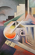Cubist Paintings - Composition by Viking Eggeling