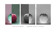 Apple Digital Art Framed Prints - Compositionally Apples Framed Print by Natalie Kinnear