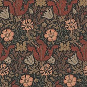 Wallpaper Tapestries - Textiles Posters - Compton Design Poster by William Morris