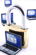Simon Bratt Photography Acrylic Prints - Computer security concept Acrylic Print by Simon Bratt Photography