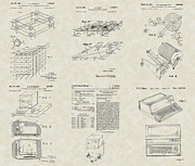 Technical Drawings Posters - Computer Technology Patent Collection Poster by PatentsAsArt