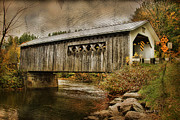 Montgomery Vermont Framed Prints - Comstock Bridge 2012 Framed Print by Deborah Benoit